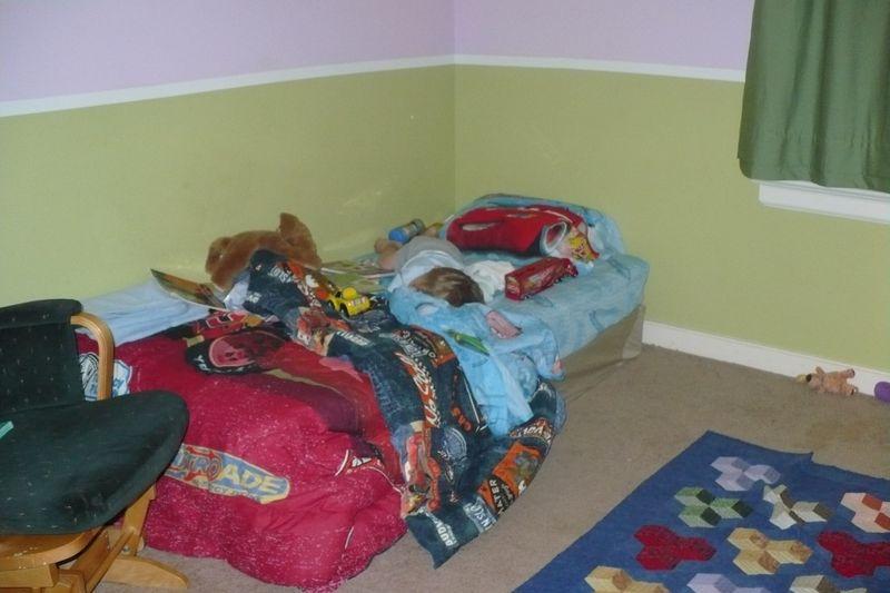 Noah's new big boy bed! 009